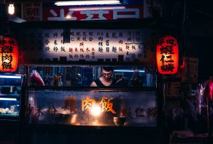 Chiosco night market a Taiwan